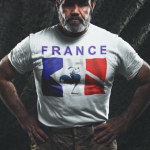design plongée drapeau francais